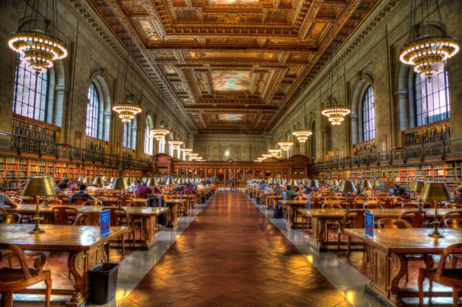 Top 20 things to do in New York: The main reading room of the New York Public Library