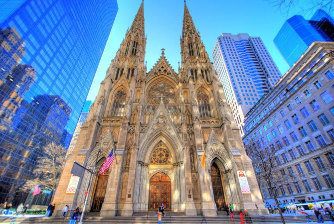 Top 20 things to do in New York: St. Patrick's Cathedral stands out between the skyscrapers