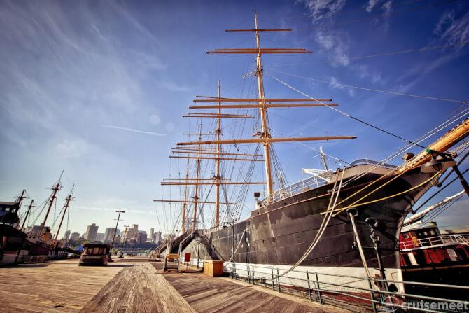 Top 20 things to do in New York: An older ship docked in the South Street Seaport
