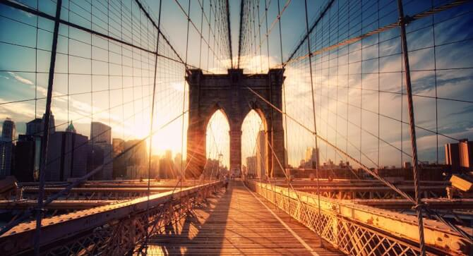 Top 20 things to do in New York: The Brooklyn Bridge is a popular spot for photographers