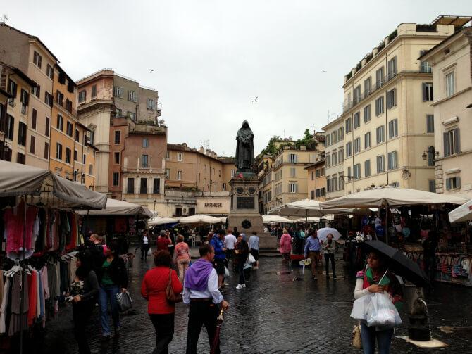 Top 20 things to do in Rome: The markets of Campo de' Fiori