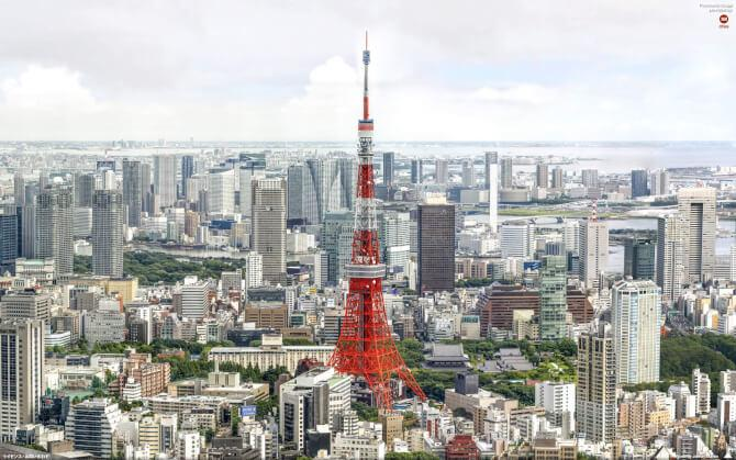 Top 20 things to do in Tokyo: Tokyo Tower during the day, with its distinct colors