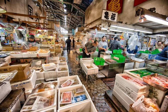 Top 20 things to do in Tokyo: The Tsukiji Fish Market is filled with fish shops