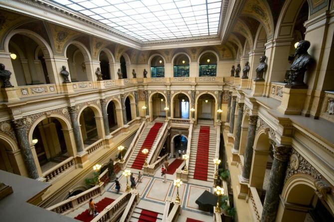 Top 20 things to do in Prague: The lobby of the main building of the National Museum of Prague