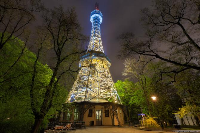 Top 20 things to do in Prague: Petřín Lookout Tower at night