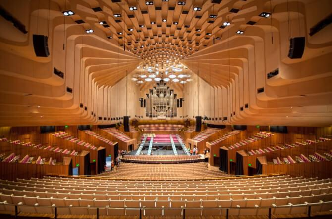 Top 20 things to do in Sydney: The interior of the Sydney Opera House