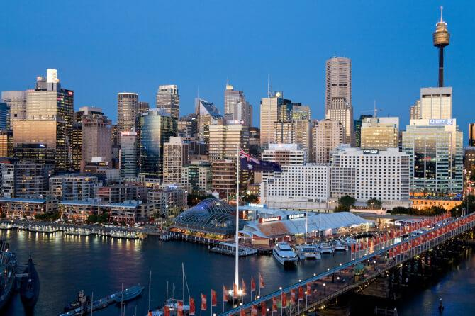 Top 20 things to do in Sydney: Darling Harbour at dusk