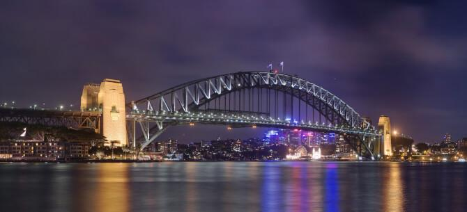 Top 20 things to do in Sydney: The Sydney Harbour Bridge at night