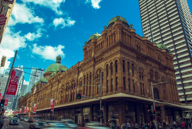 Top 20 things to do in Sydney: Outside view of the long Queen Victoria Building