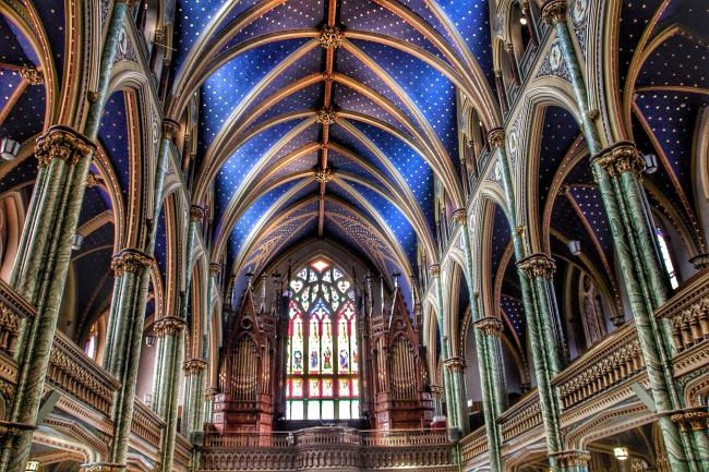 Top 20 things to do in Ottawa: The ceiling of the Notre-Dame Cathedral Basilica