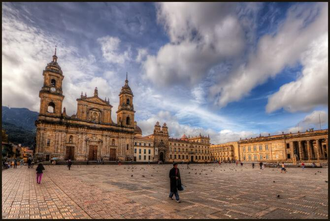 things to do in Bogota:Plaza de Bolivar