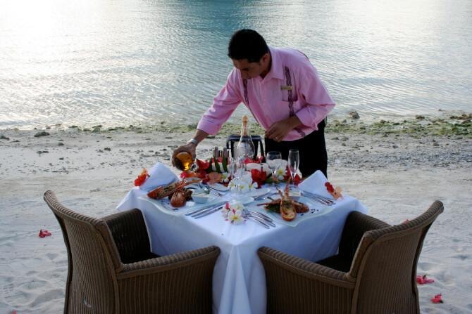 Things to do in Bora Bora:Romantic Dinner