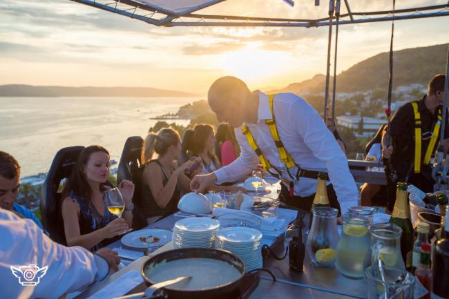 things to do in Malta:Dinner In The Sky