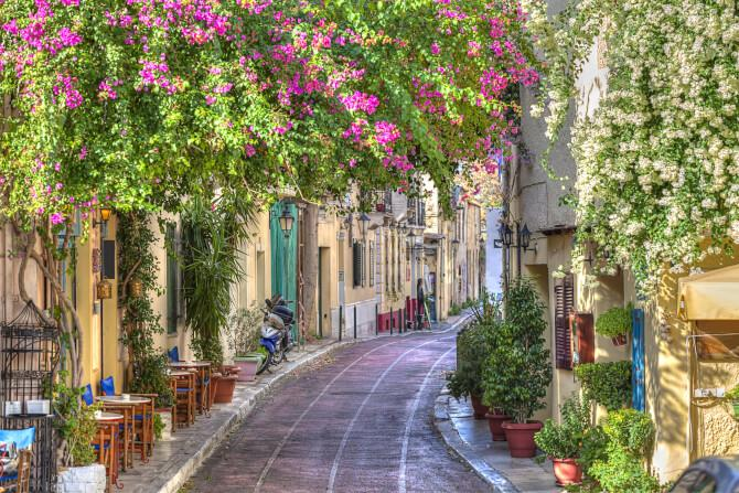 Top 20 things to do in Athens: The flowery streets of the Plaka
