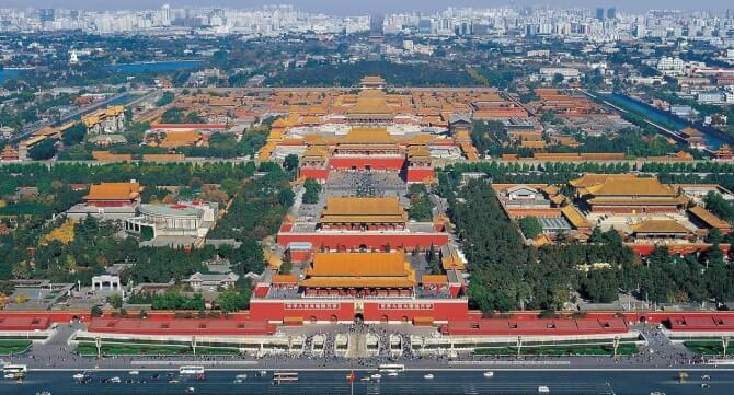 Top 20 things to do in Beijing: Aerial view of the Imperial City and the Forbidden City further inside