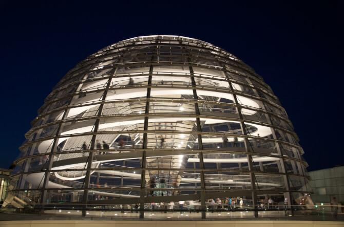 Top 20 things to do in Berlin: The glass dome of the rebuilt Reichstag