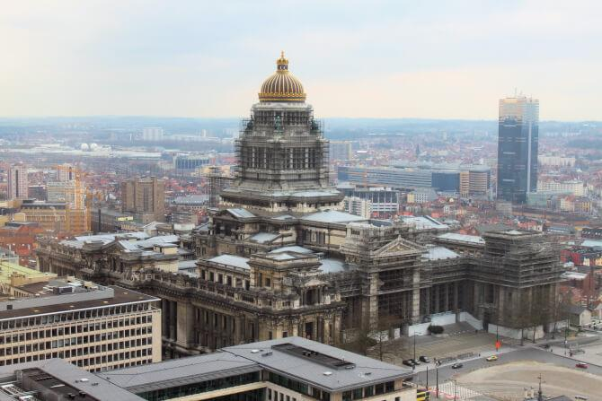 Top 20 things to do in Brussels: The Palais De Justice under renovation