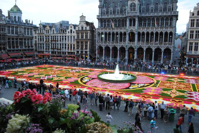 Top 20 things to do in Brussels: One of the Flower Carpets at the Gran Place