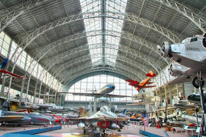 Top 20 things to do in Brussels: Airplane hangar at the Royal Museum of the Armed Forces and Military History