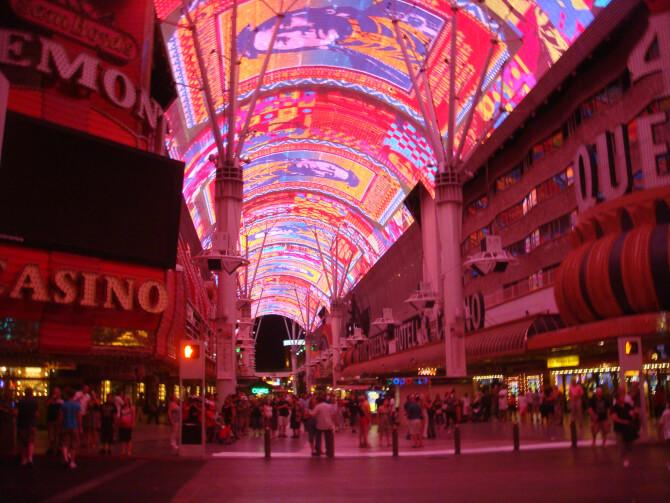 Top 20 things to do in Las Vegas: The overhead light show of the Fremont Street Experience