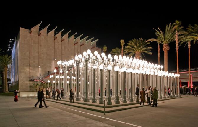 Top 20 things to do in Los Angeles: An outside exhibition at the Los Angeles County Museum of Art