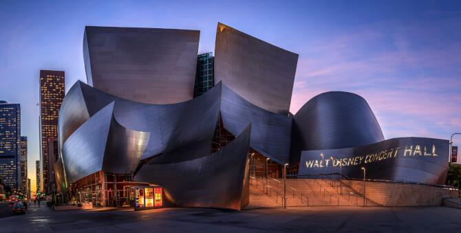 Top 20 things to do in Los Angeles: The Walt Disney Concert Hall at dusk