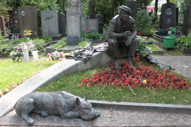 Top 20 things to do in Moscow: The statue of Yuri Nikulin at the Novodevichy Cemetery