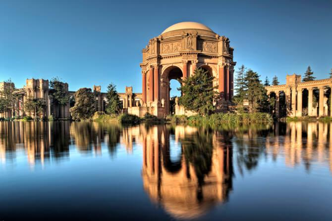 Top 20 things to do in San Francisco: Palace of Fine Arts - taking a break here is one of the most calming things to do in San Francisco