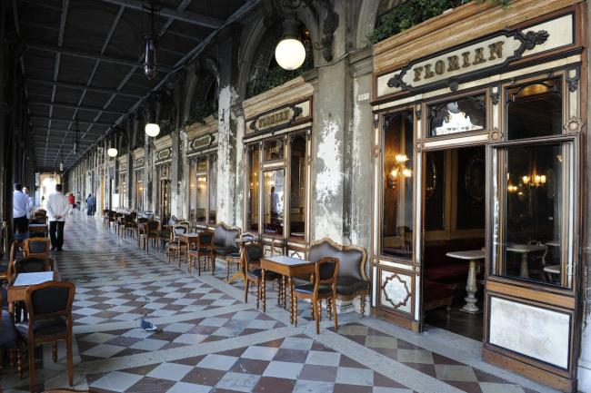 Top 20 things to do in Venice: The exterior of the Caffè Florian