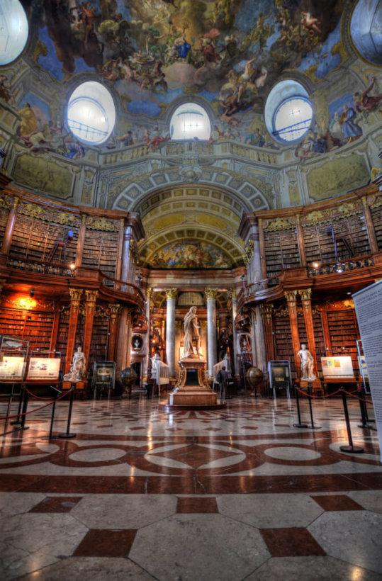 Top 20 things to do in Vienna: The main hall of the Austrian National Library
