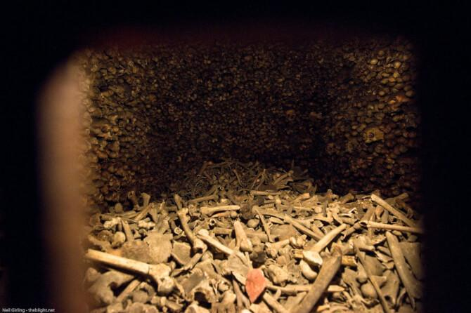 Top 20 things to do in Vienna: A little hole in one of the bone chambers of the Catacombs of St. Stephen's Cathedral