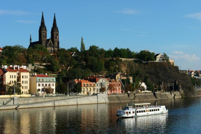 Top 20 things to do in Prague: Vyšehrad as seen from the river