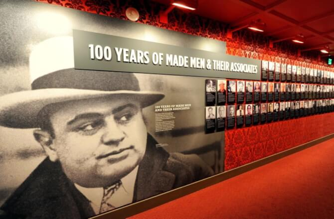 Top 20 things to do in Las Vegas: Part of the exhibition at the Mob Museum