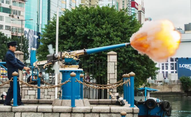 Top 20 things to do in Hong Kong: Noonday Gun