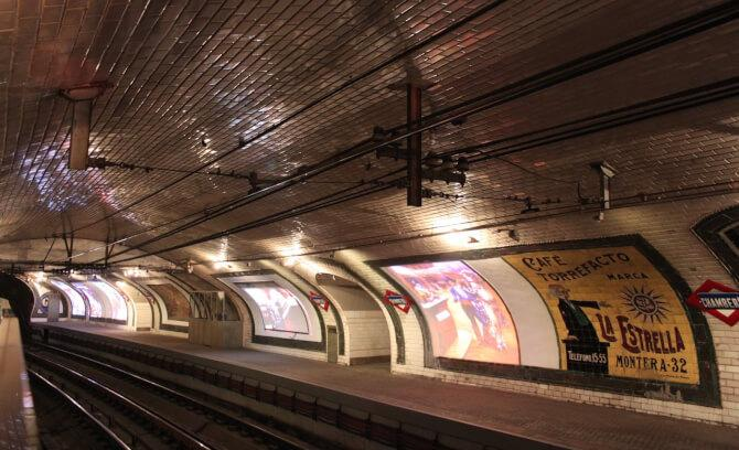 Top 20 things to do in Madrid: Chamberí Ghost Station