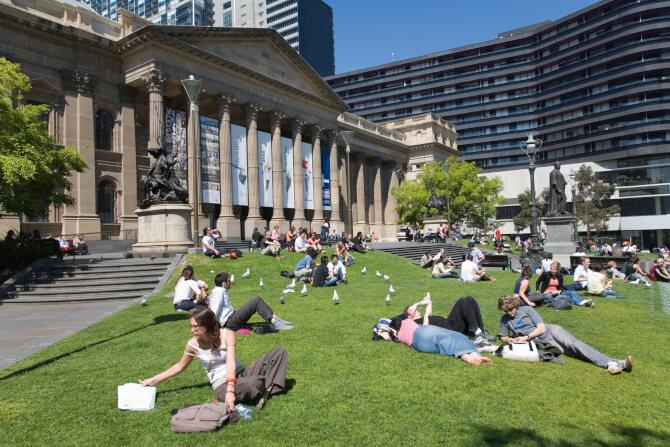 Top 20 things to do in Melbourne: Outside the State Library Victoria