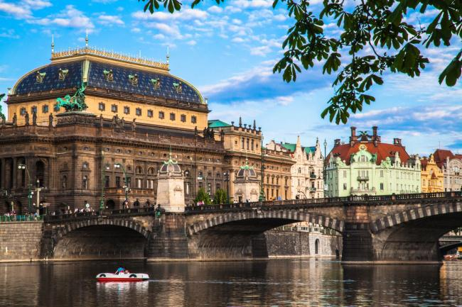 Top 20 things to do in Prague: The National Theatre as seen from the River Vltava