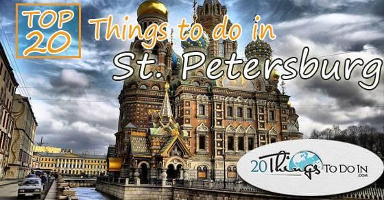 Top 20 things to do in Saint Petersburg