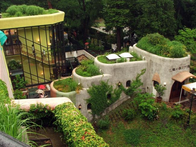 Top 20 things to do in Tokyo: An exterior area of the Ghibli Museum