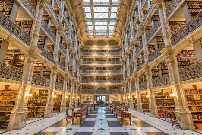Top 20 things to do in Baltimore: George Peabody Library