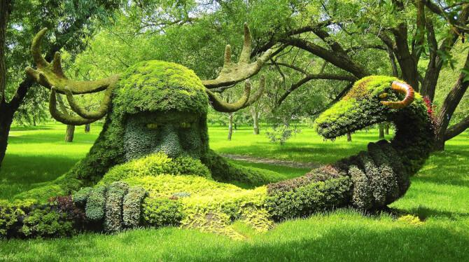 Top 20 things to do in Montreal: Plant sculptures in the Montreal Botanical Gardens
