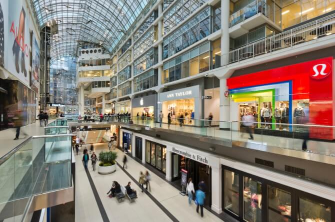 Top 20 things to do in Toronto: Toronto Eaton Centre